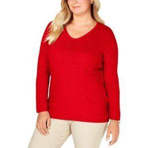New Karen Scott Cotton Scoop Neck Sweater